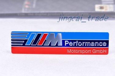 Newest ///M Performance 3D Aluminium Car Decal Badge Emblem For BMW M-Power M3 M5 M6
