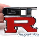 GT-R Logo 3D Car Auto Emblem Badge Sticker Chromed Metal OEM For Nissan GTR