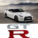 Pair (2 pcs) Polished Chrome GT-R Logo Car Auto Sticker Decal OEM For Nissan GTR