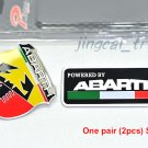 2 pcs ABARTH Scorpion Italy 3D Car Auto Aluminium Decal Badge Emblem Sticker