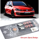 Pair (2 pcs) Rabbit GTI Epoxy Aluminium Car Decal Badge Emblem for Volkswagen VW