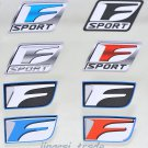 Set (8 pcs) Color F Sport Logo Car Auto Sticker Decal Badge Emblem OEM for Lexus