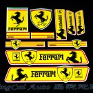 Set (11 pcs) Colorful Ferrari SJ Logo Car Auto Sticker Decal Emblem Badge