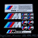 Set (12 pcs) Colorful BMW ///M Motor Sport Logo Car Auto Sticker Decal Emblem Badge
