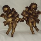 Original Arnat Creations / Vintage Pair / Chalk Ware Angels / Victorian Style / Cherubs