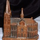 Kolner Dom Casket / Cathedral Building / Vintage Copper / Brass Cast Metal / Keepsake Box / Germany