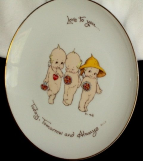 Kewpie Doll Rose O'Neill Collectors Plate 1973 World Wide Arts Love to You Today