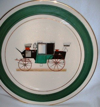 Salem China Co Antique Automobile Charger Collectors Plate Imperial Pattern Vintage 1960�s USA