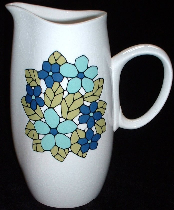 Franciscan China Whitestone Ware Vintage Cantata Pattern Pitcher 1965-1972
