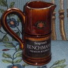 Seagram's Benchmark Bar Jug Premium Bourbon Pub Whiskey Vintage Water Pitcher
