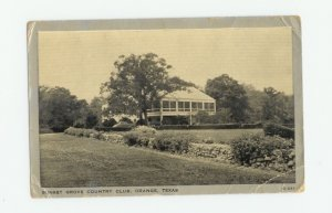 Sunset Grove Country Club, Orange, Texas Postcard