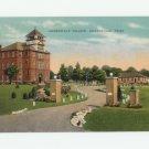 Jacksonville College Jacksonville Texas Linen Postcard