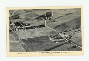 Aerial View Italian Swiss Colony Winery, Asti, California Postcard