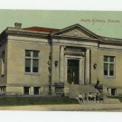 Public Library, Kenton Ohio, 1914 Postcard