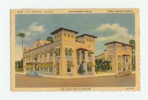 Cla-Reina Hotel Coral Gables Florida Postcard