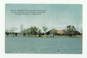 Trinidad Steam Electric Power Plant Texas Postcard