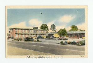 Columbus Motel Court Mississippi Postcard