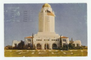 Hdq. Building Randolph AFB Texas Postcard 1953