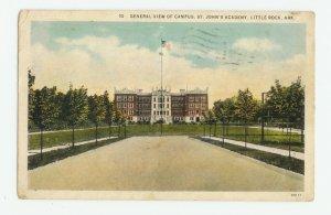 St. John's Academy Little Rock Arkansas Postcard 1933