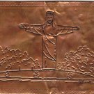 Christ of the Ozarks Copper foil Postcard
