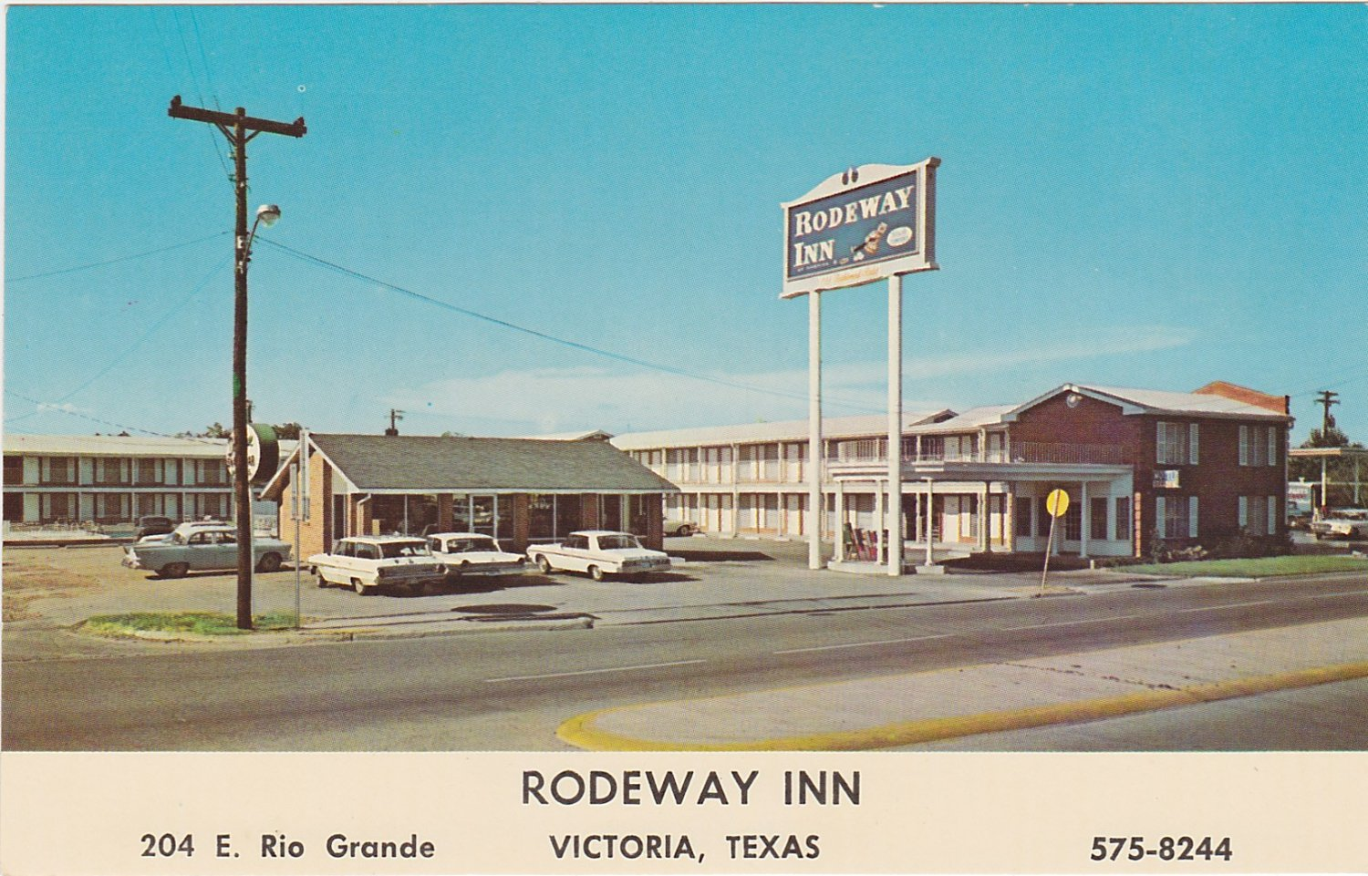 rodeway inn victoria texas 1960s postcard. Black Bedroom Furniture Sets. Home Design Ideas