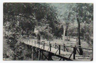 City Park Herington Kansas 1911 Postcard