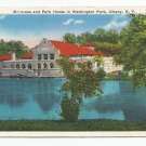 Lake and Park House Washington Park Albany New York Postcard