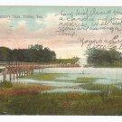 Bachman's Dam Dallas Texas Postcard 1909