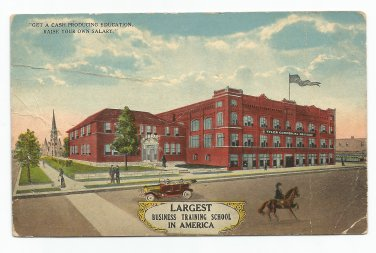 Tyler Commercial College Tyler Texas Vintage Postcard