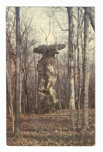 Jug Rock Shoals Indiana Postcard