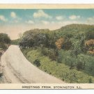 Greetings From Stonington Illinois Postcard 1918