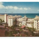 Moana and Surf Rider Hotels Waikiki 1960s Hawaii Postcard