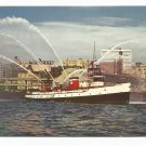 Fire Boat Demonstration Puget Sound Seattle Washington 1950s(?) Postcard