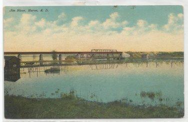 Jim River, Huron, South Dakota Postcard