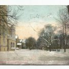 11th Street in Winter Richmond Indiana Postcard 1909 Druckchrome