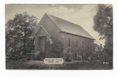 Methodist Church Heflin Alabama Postcard 1941