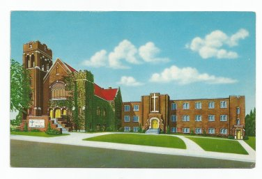 First Lutheran Church Omaha Nebraska Postcard 1959