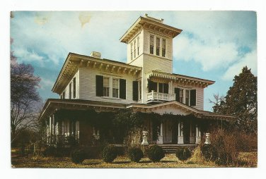 Ten Oaks T. Weller Smith Home Jacksonville Alabama Postcard