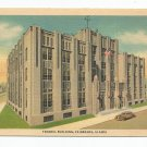 Federal Building Fairbanks Alaska Linen Postcard