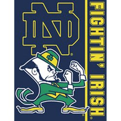 Notre Dame Irish Royal Plush Raschel NCAA Blanket   Nor5NDIrish-700Stripes