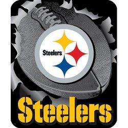 Pittsburgh Steelers Royal Plush Raschel NFL Blanket   Nor1Pit-703Burst