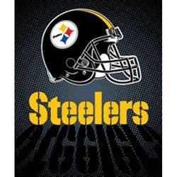 Pittsburgh Steelers Royal Plush Raschel NFL Blanket   Nor1Pit-702Lights