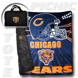 "Chicago Bears ""Tote A Long"" NFL Picnic Blanket   Nor1Chi-176PicnicTote"