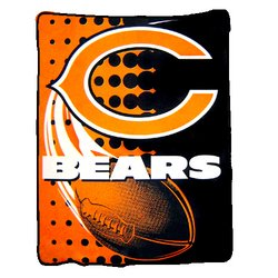 Chicago Bears Royal Plush Raschel NFL Blanket   Nor1Chi-800Flash