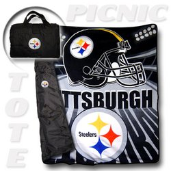 "Pittsburgh Steelers ""Tote A Long"" NFL Picnic Blanket   Nor1Pit-176PicnicTote"