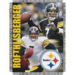 Ben Roethlisberger #7 Pittsburgh Steelers NFL Woven Tapestry Throw Blanket  Nor1Pit-BRoet-051Series