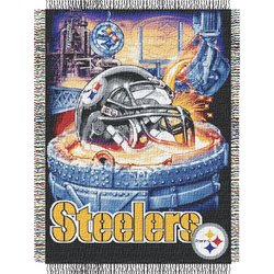 Pittsburgh Steelers Woven Tapestry NFL Throw    Nor1Pit-051HFA