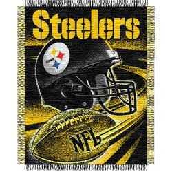 Pittsburgh Steelers Triple Woven Jacquard NFL Throw   Nor1Pit-019Series
