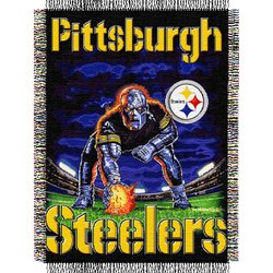 Pittsburgh Steelers Triple Woven Tapestry NFL Throw   Nor1Pit-051TPS
