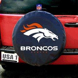 Denver Broncos NFL Spare Tire Cover by Fremont Die (Black)   Fmt1TC-Den-98432
